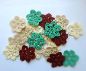 Crochet Flowers by Kristy at Catalina Inspired on Etsy