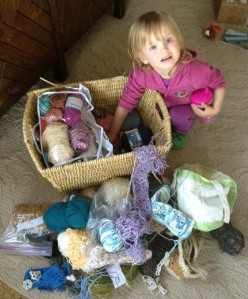 Yarn Basket Mess