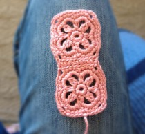 Crochet Headband - Joining Two Squares - Step Five