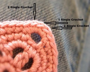 Crochet Headband - Corner Detail Instructions