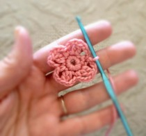 Round 2 of Floral Motif for Crochet Headband