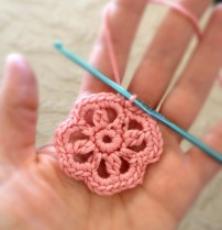 Round 3 of Flower Motif for Chrochet Headband
