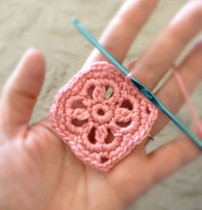 Round 4 of the Floral Motif for the Crochet Headband