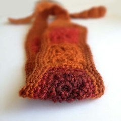 Crochet Headband Wool & Acrylic Mix Yarn in Magenta, Purple and Rust Orange Boho Chick Hairband