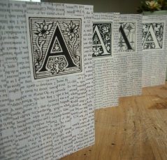 Monogram Letter A Notecards Made From Recycled Materials