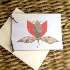 Lotus Flower Notecard Made Using All Recycled Materials
