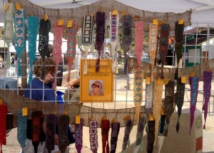 Some of My Crochet Headbands on Display  (click to see crochet headbands for sale at Catalina Inspired)
