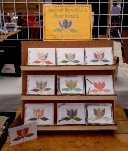 My Lotus Flower Notecards Made From Almost 100% Recycled Materials