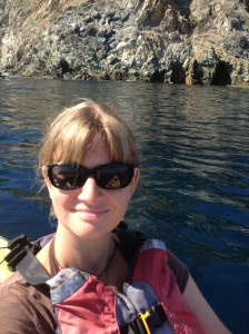 Kristy kayaking off Catalina Island