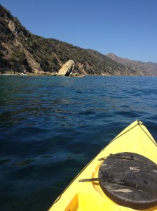 Kayaking off Catalina Island - Frog Rock
