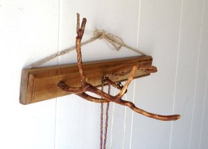 Recycled Wood Jewelry Hanger by Kristy